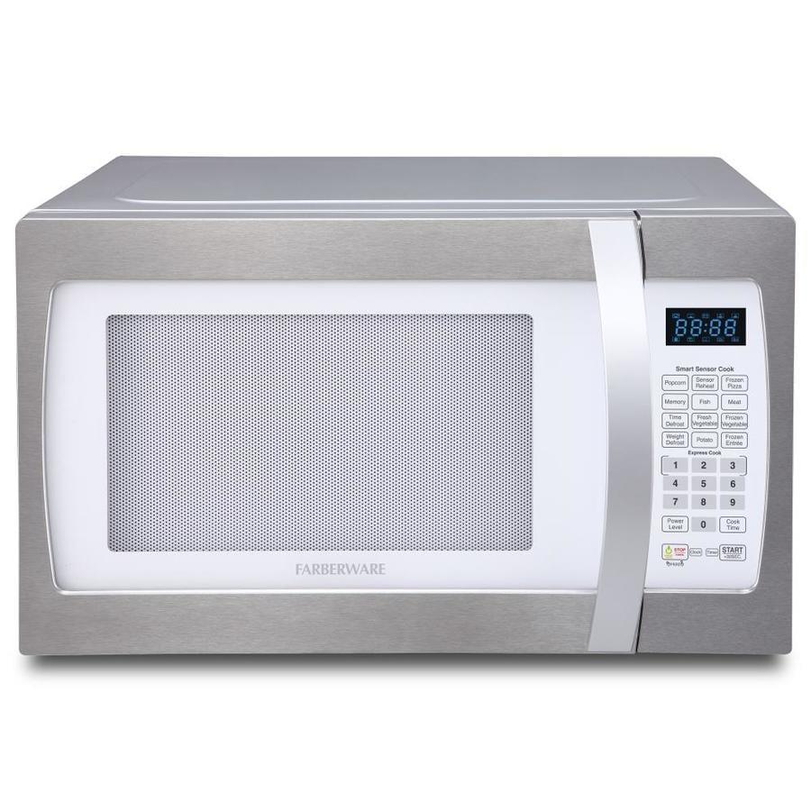 Farberware 1 3 Cu Ft 1100 Watt Countertop Microwave White