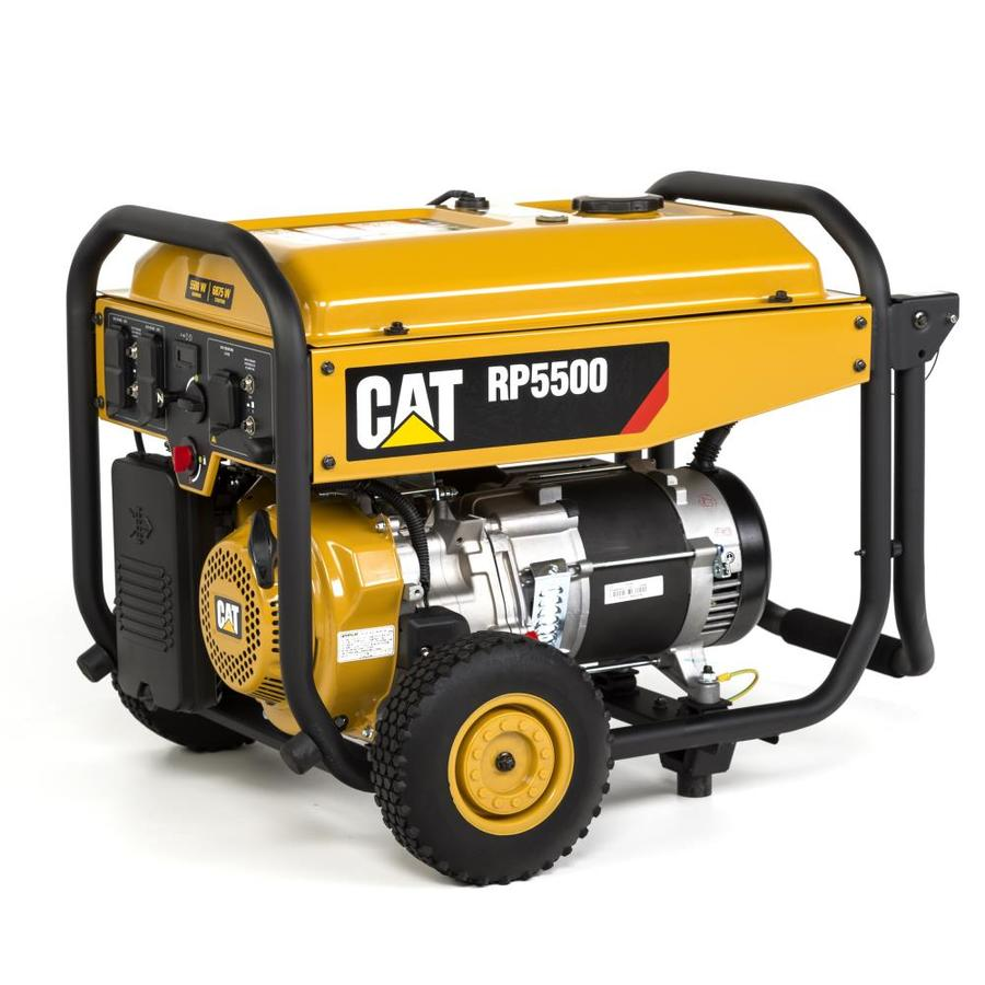 Cat RP 5500-Running-Watt Portable Generator with Caterpillar Engine