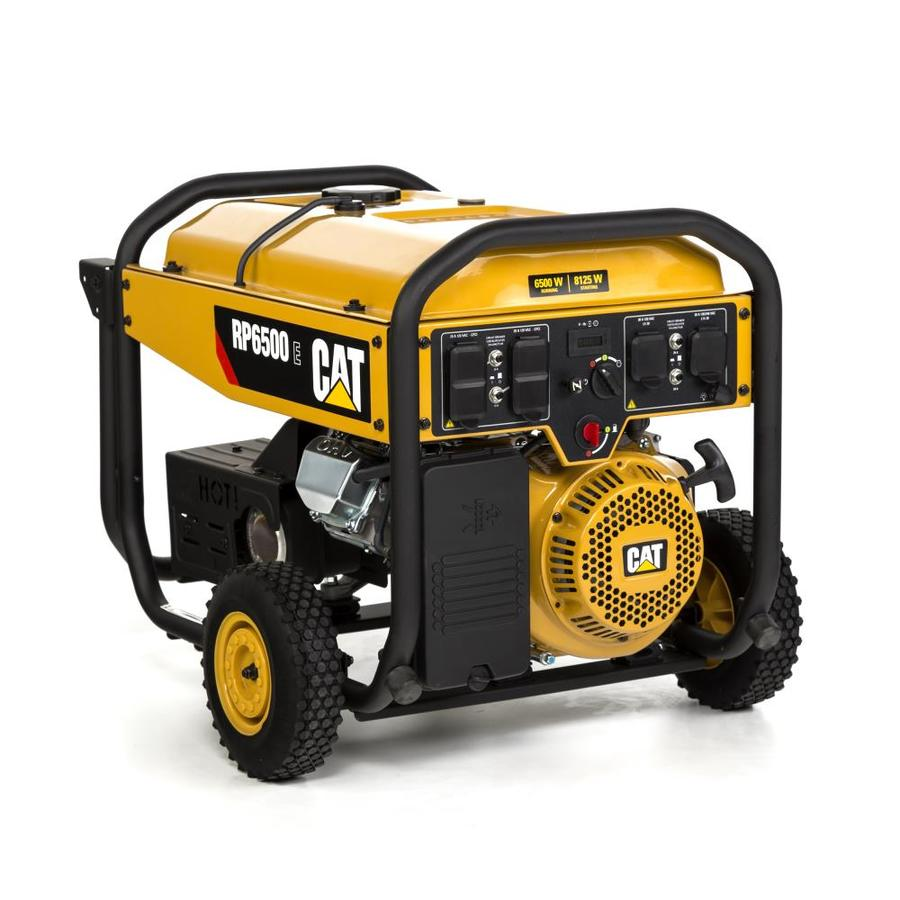 Cat RP 6500-Running-Watt Portable Generator with Caterpillar Engine