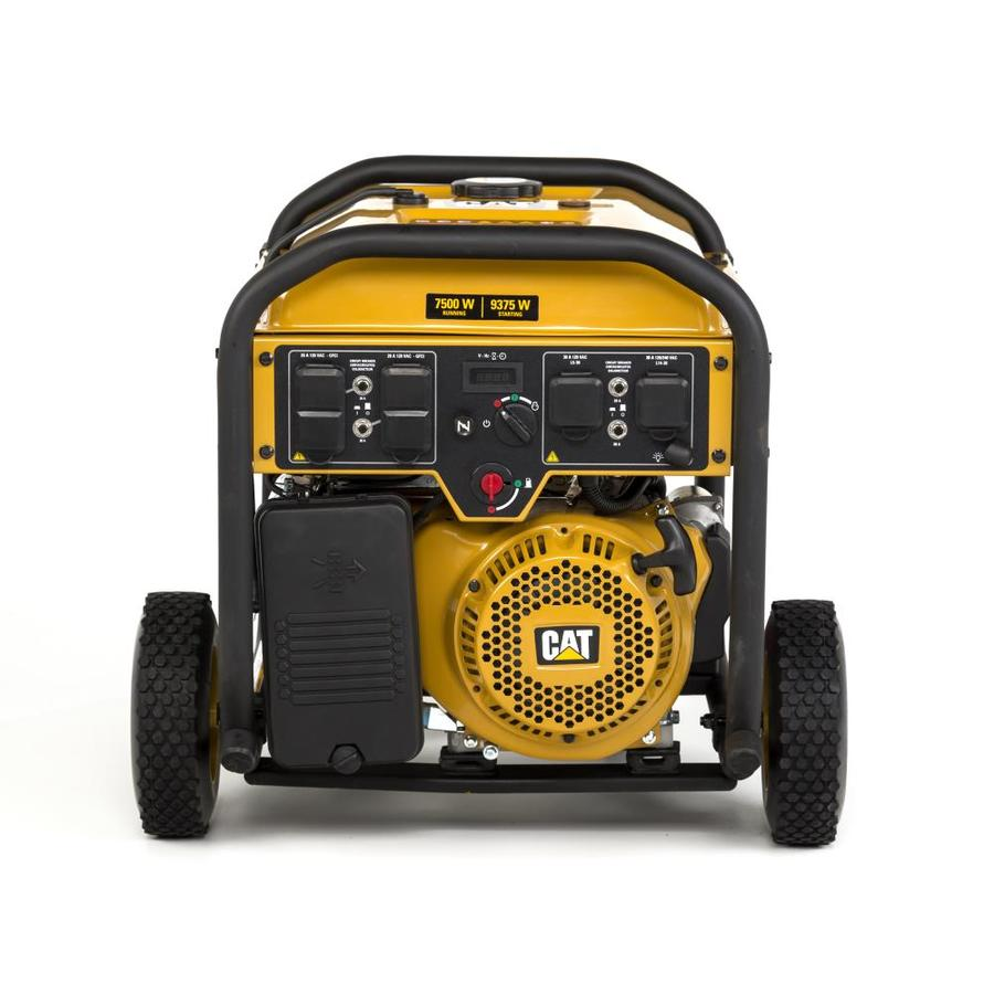 Cat RP 7,500-Running-Watt Portable Generator with Caterpillar Engine