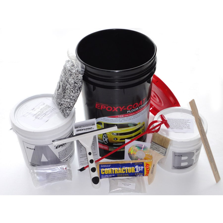 Epoxy-Coat 2-Part Gray High-Gloss Garage Floor Epoxy Kit (Actual Net Contents: 384-fl oz)