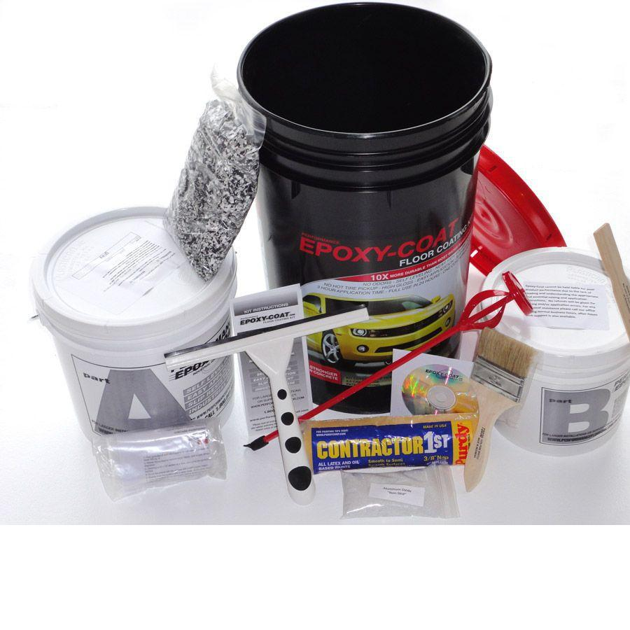 Epoxy-Coat 2-Part Dark Gray High-Gloss Garage Floor Epoxy Kit (Actual Net Contents: 384-fl oz)