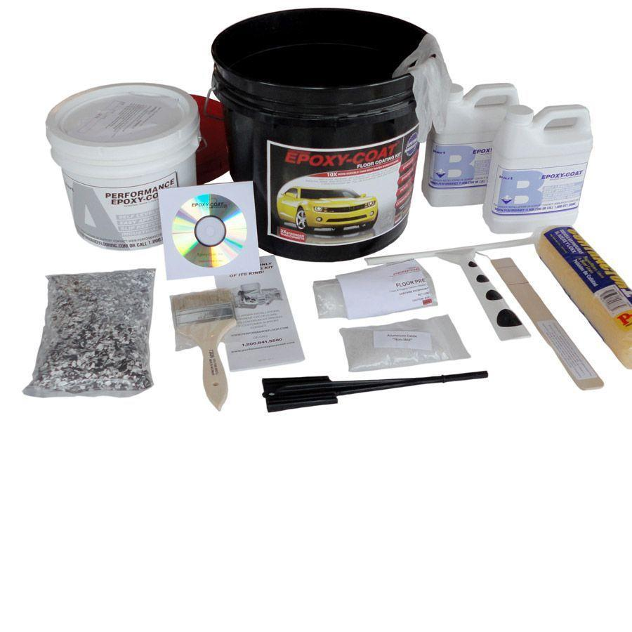 Epoxy-Coat 2-Part Bright Red High-Gloss Garage Floor Epoxy Kit (Actual Net Contents: 192-fl oz)