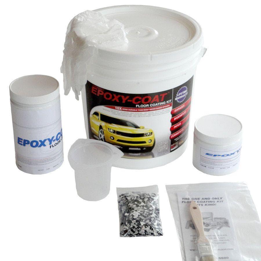 shop epoxy-coat 2-part clear high-gloss garage floor epoxy kit
