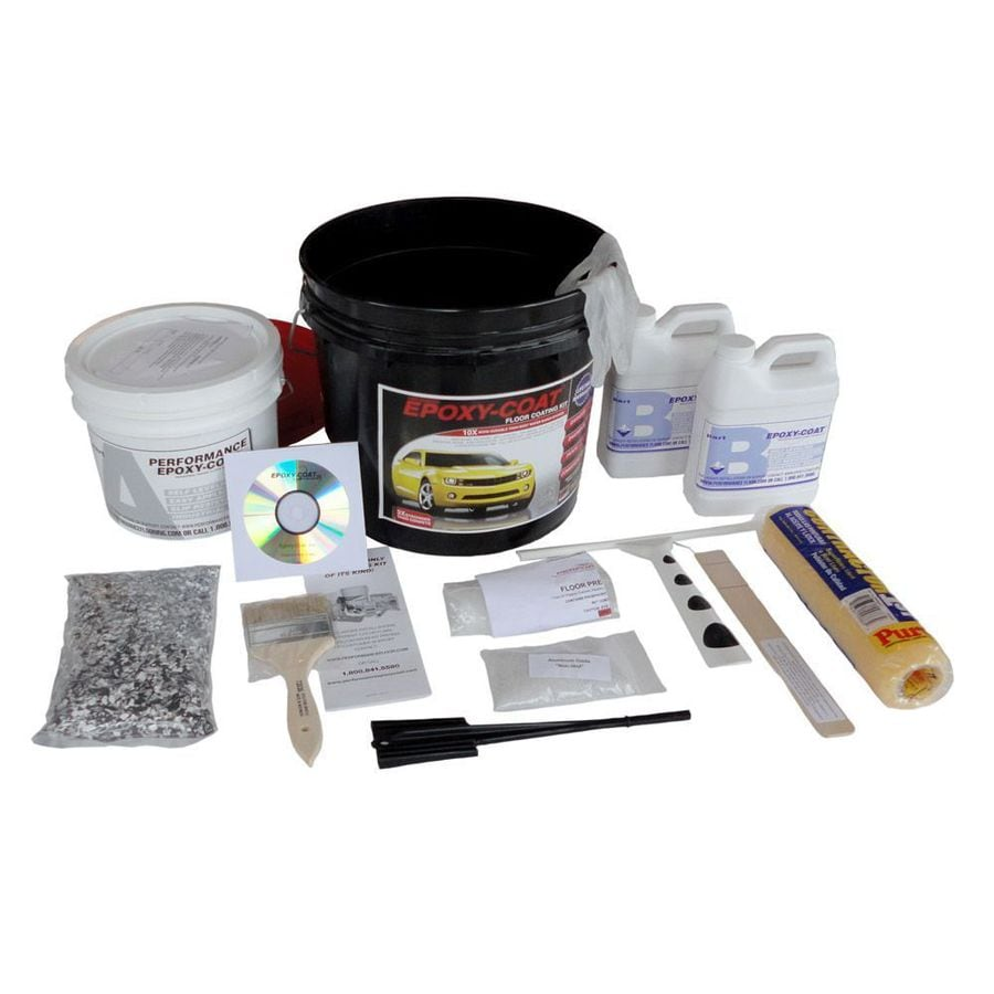 Epoxy-Coat 2-Part Gray High-Gloss Epoxy Garage Floor Epoxy Kit (Actual Net Contents: 192-fl oz)