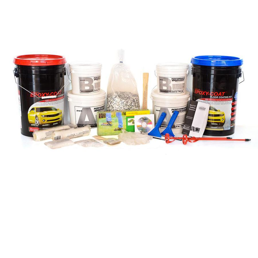 Epoxy-Coat 2-Part Gray with Clear Coat High-Gloss Garage Floor Epoxy Kit (Actual Net Contents: 768-fl oz)