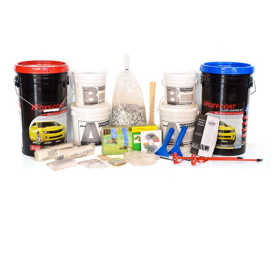 Epoxy-Coat 2-Part Safety Yellow with Clear Coat High-Gloss Garage Floor Epoxy Kit (Actual Net Contents: 768-fl oz)