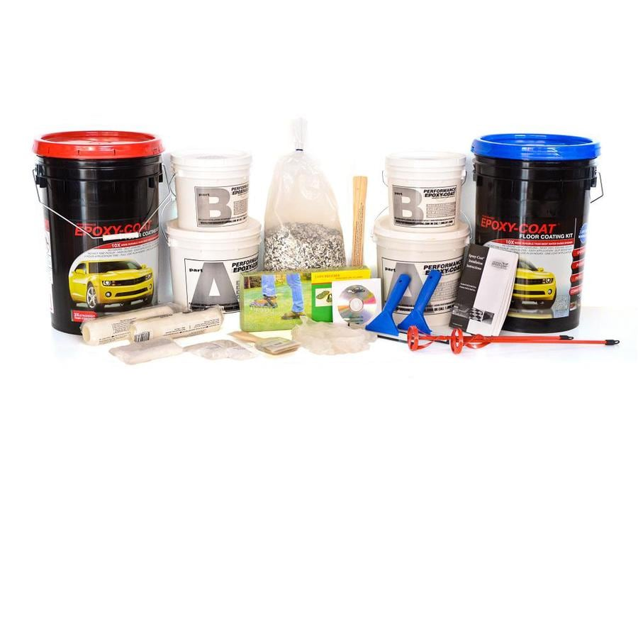Epoxy-Coat 2-Part Black with Clear Coat High-Gloss Garage Floor Epoxy Kit (Actual Net Contents: 768-fl oz)
