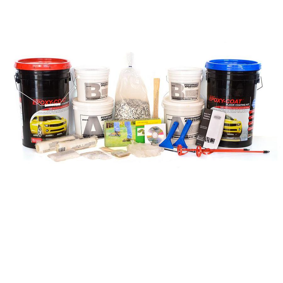 Epoxy-Coat 2-Part Medium Gray with Clear Coat High-Gloss Garage Floor Epoxy Kit (Actual Net Contents: 768-fl oz)