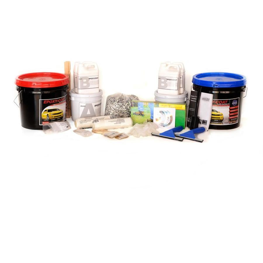 Epoxy-Coat 2-Part Bright Red with Clear Coat High-Gloss Garage Floor Epoxy Kit (Actual Net Contents: 384-fl oz)