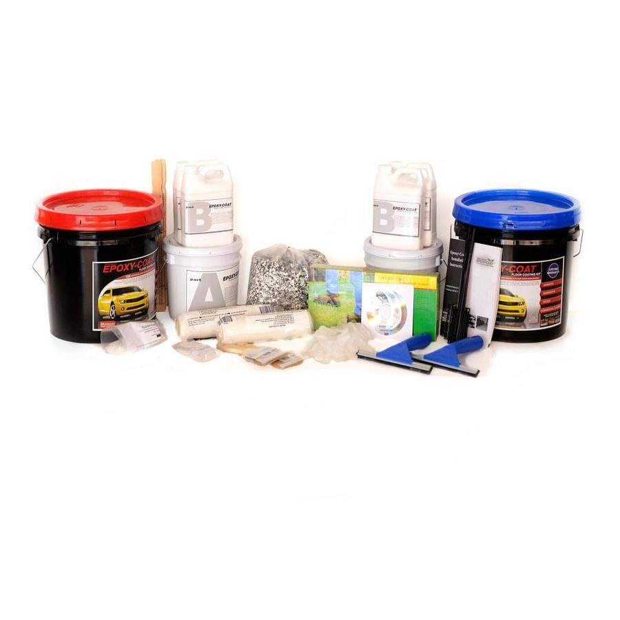 Epoxy-Coat 2-Part Tile Red with Clear Coat High-Gloss Epoxy Garage Floor Epoxy Kit (Actual Net Contents: 384-fl oz)