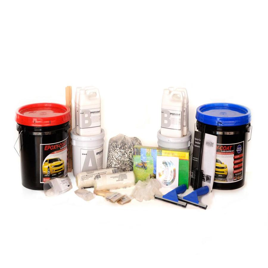 Epoxy-Coat 2-Part Medium Gray with Clear Coat High-Gloss Epoxy Garage Floor Epoxy Kit (Actual Net Contents: 384-fl oz)