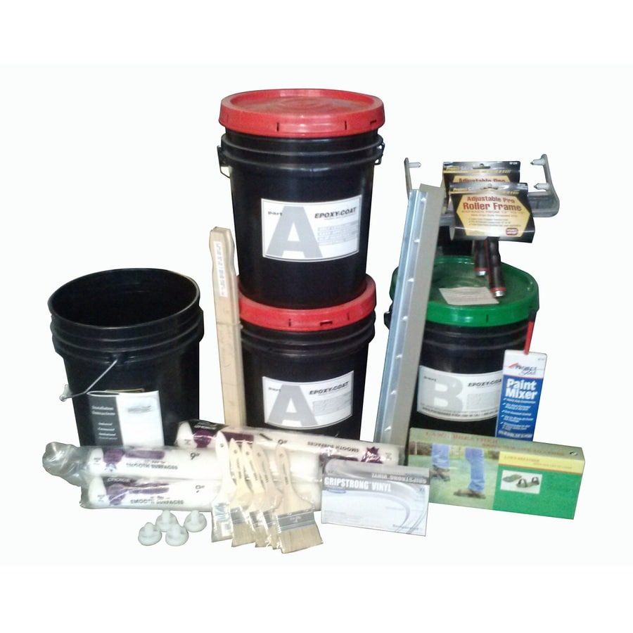 Epoxy Coat 2 Part Clear High Gloss Garage Floor Epoxy Kit
