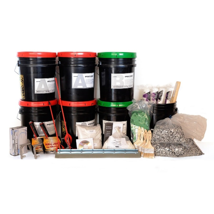 Epoxy-Coat 2-Part Black/Clear High-Gloss Epoxy Garage Floor Epoxy Kit (Actual Net Contents: 3,840-fl oz)
