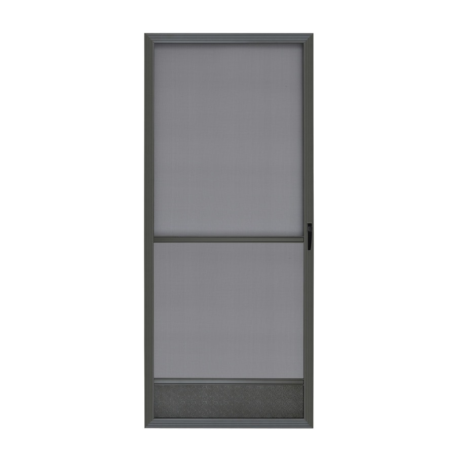 ReliaBilt Bronze Aluminum Hinged Screen Door (Common: 32-in x 80-in; Actual: 32-in x 80-in)