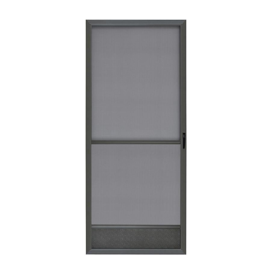 ReliaBilt Bronze Aluminum Hinged Screen Door (Common: 36 In X 80 In