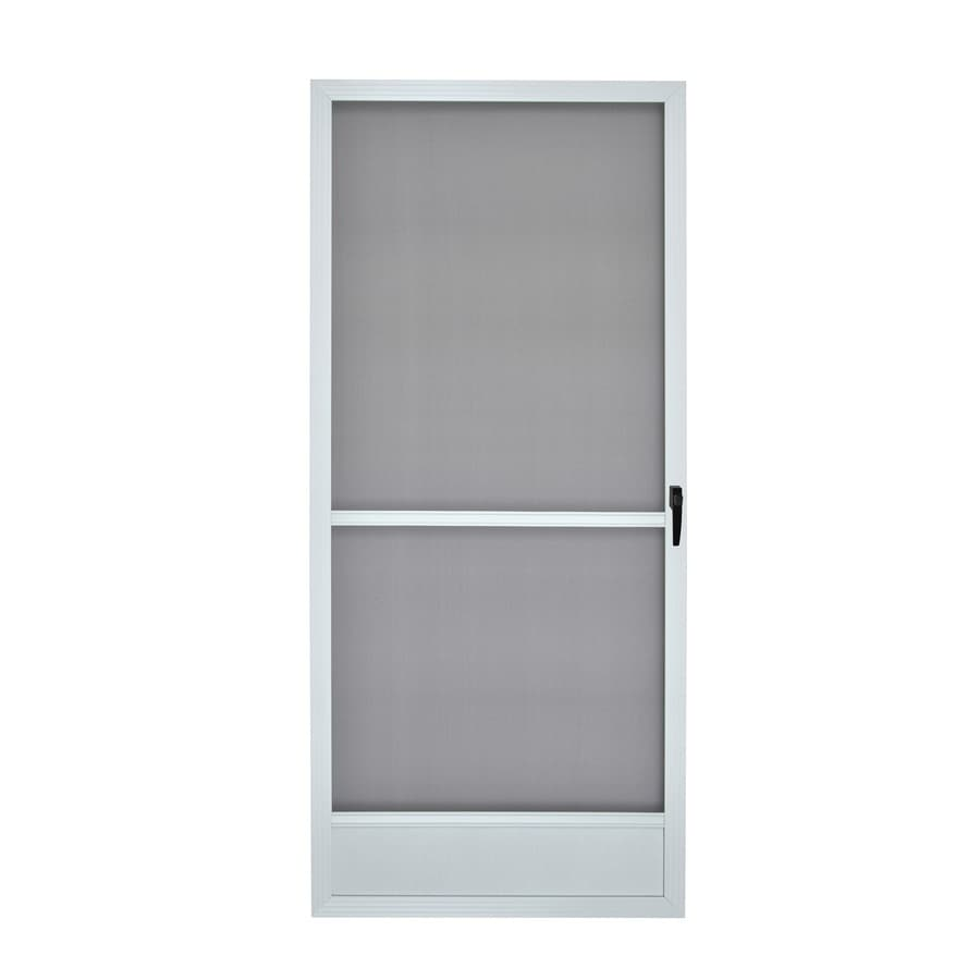 Shop Reliabilt White Aluminum Hinged Screen Door Common 36 In X 80