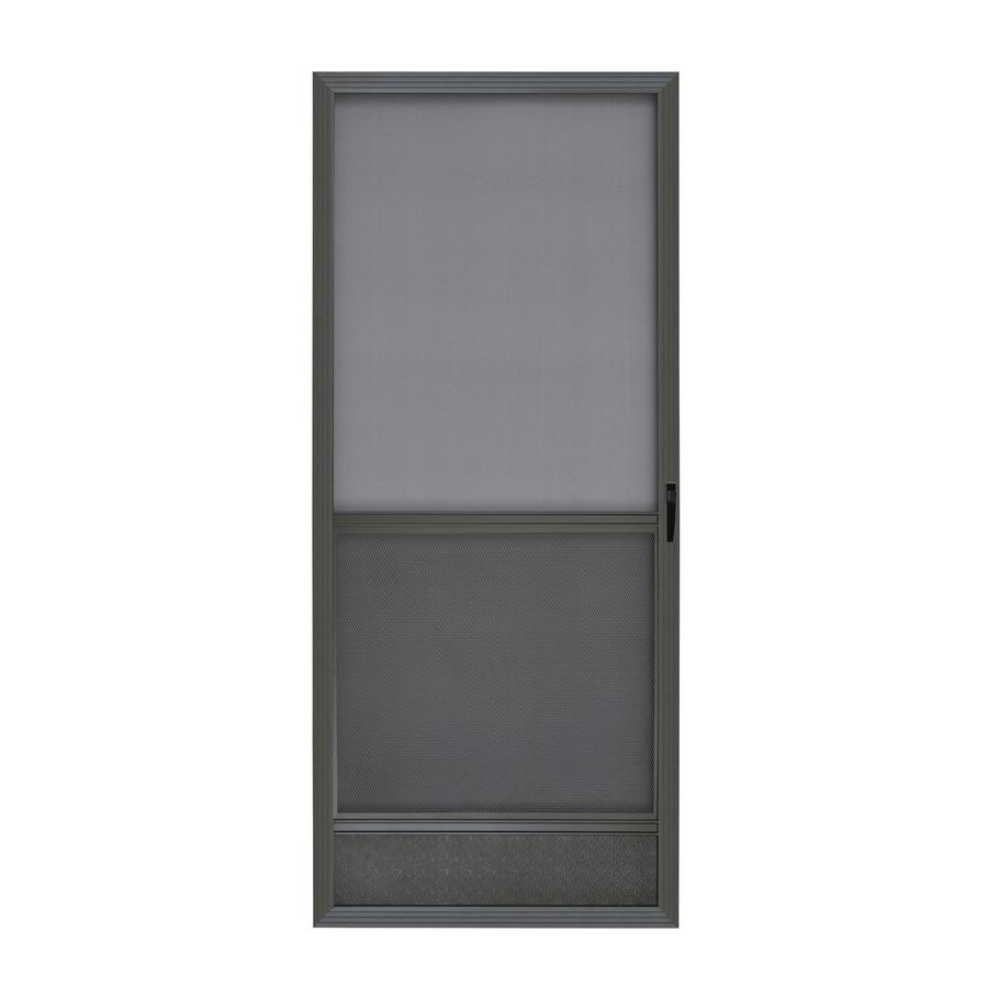ReliaBilt Bronze Aluminum Hinged Screen Door (Common: 32-in x 80-in; Actual: 32-in x 80-in)