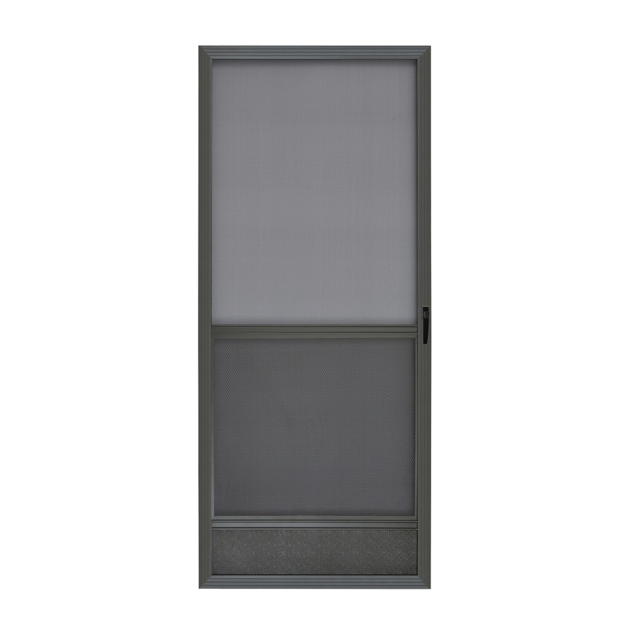 Reliabilt 6020 36 In X 80 In Bronze Aluminum Frame Hinged Screen Door In The Screen Doors Department At Lowes Com
