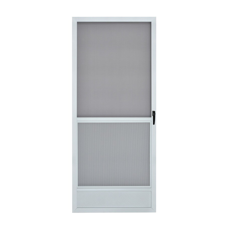 ReliaBilt White Aluminum Hinged Screen Door (Common 36-in x 80-in  sc 1 st  Loweu0027s & Shop ReliaBilt White Aluminum Hinged Screen Door (Common: 36-in x 80 ...
