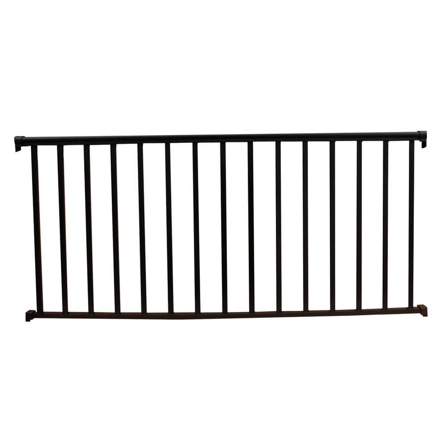 Wolf Handrail (Assembled: 8-ft x 3-ft) Hammered Black Aluminum Deck Railing Kit