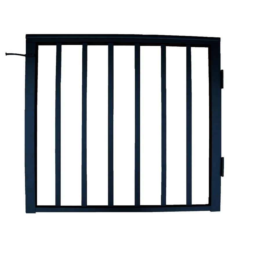 Wolf Handrail 36-in W x 36-in H Aluminum Deck Railing Gate