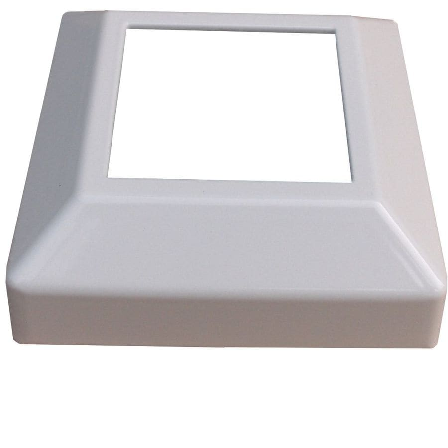 Wolf Handrail Painted Aluminum Porch Post Base Cover (Fits Common Post Measurement: 2-1/2-in x 2-1/2-In)