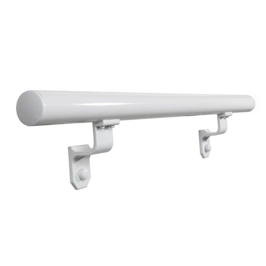 Wolf Handrail 1.9-in x 3-ft White Painted Aluminum Handrail