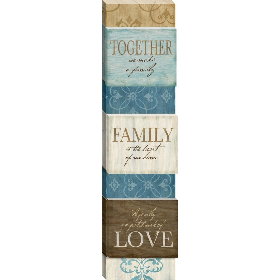 24-in W x 6-in H Frameless Canvas Family Print Wall Art