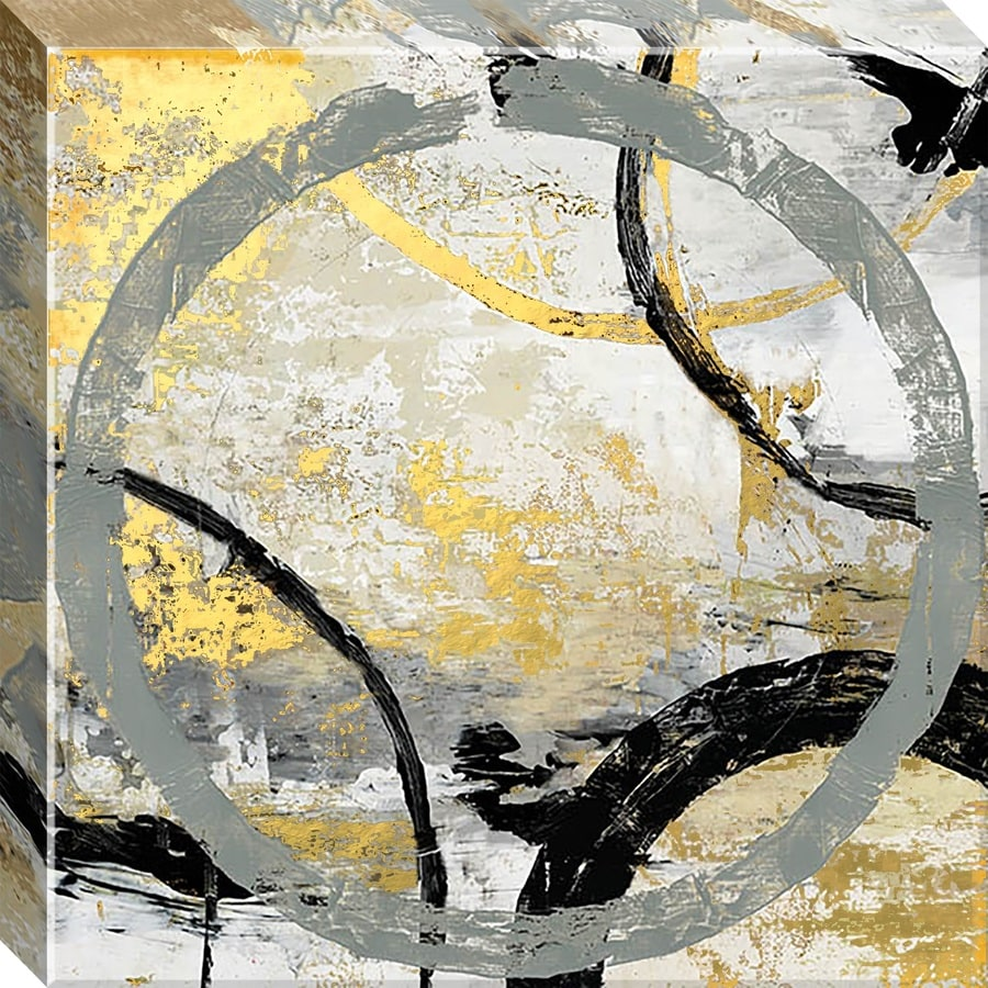 12-in W x 12-in H Frameless Canvas Abstract Print Wall Art