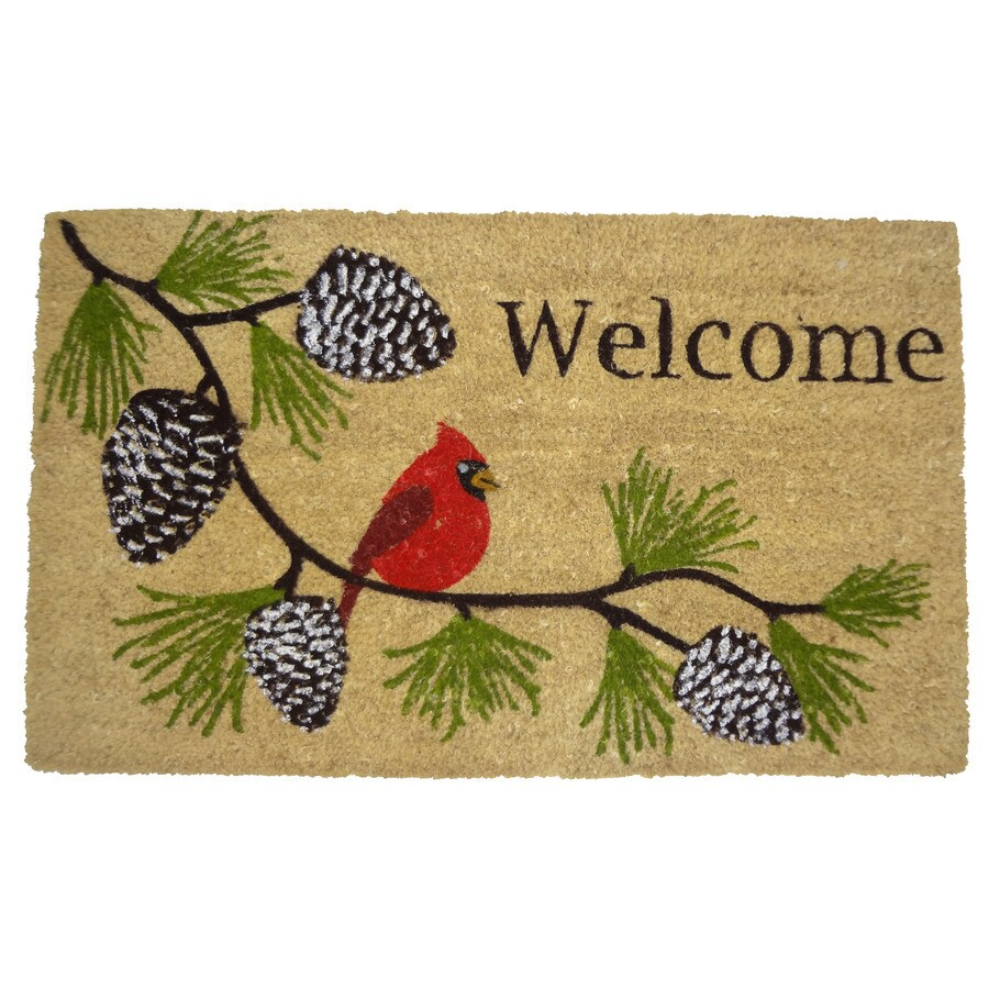 Style Selections Multicolor Rectangular Door Mat (Common: 18-in x 30-in; Actual: 17.6-in x 29.4-in)