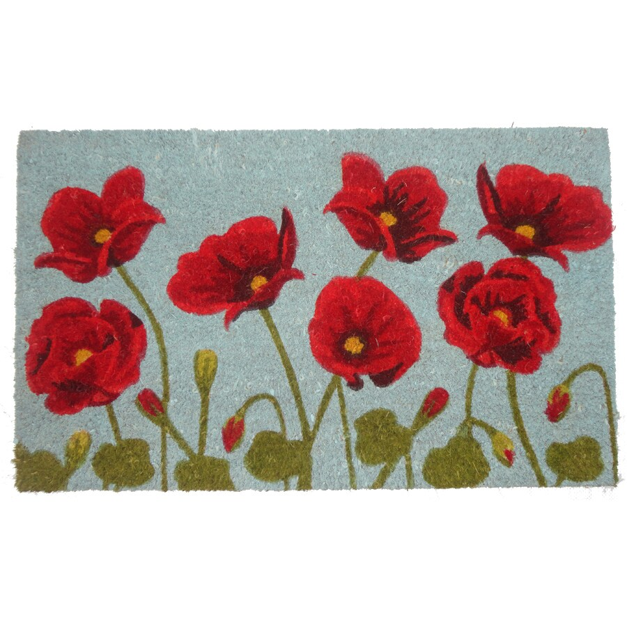 Style Selections Blue Rectangular Door Mat (Common: 1-1/2-ft X 2-1/2-ft; Actual: 17.6-in x 29.4-in)