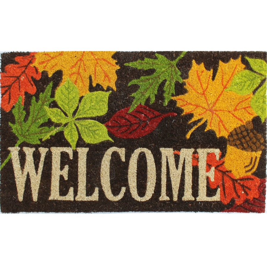 Tan/Multicolor Rectangular Door Mat (Common: 18-in x 30-in; Actual: 18-in x 30-in)