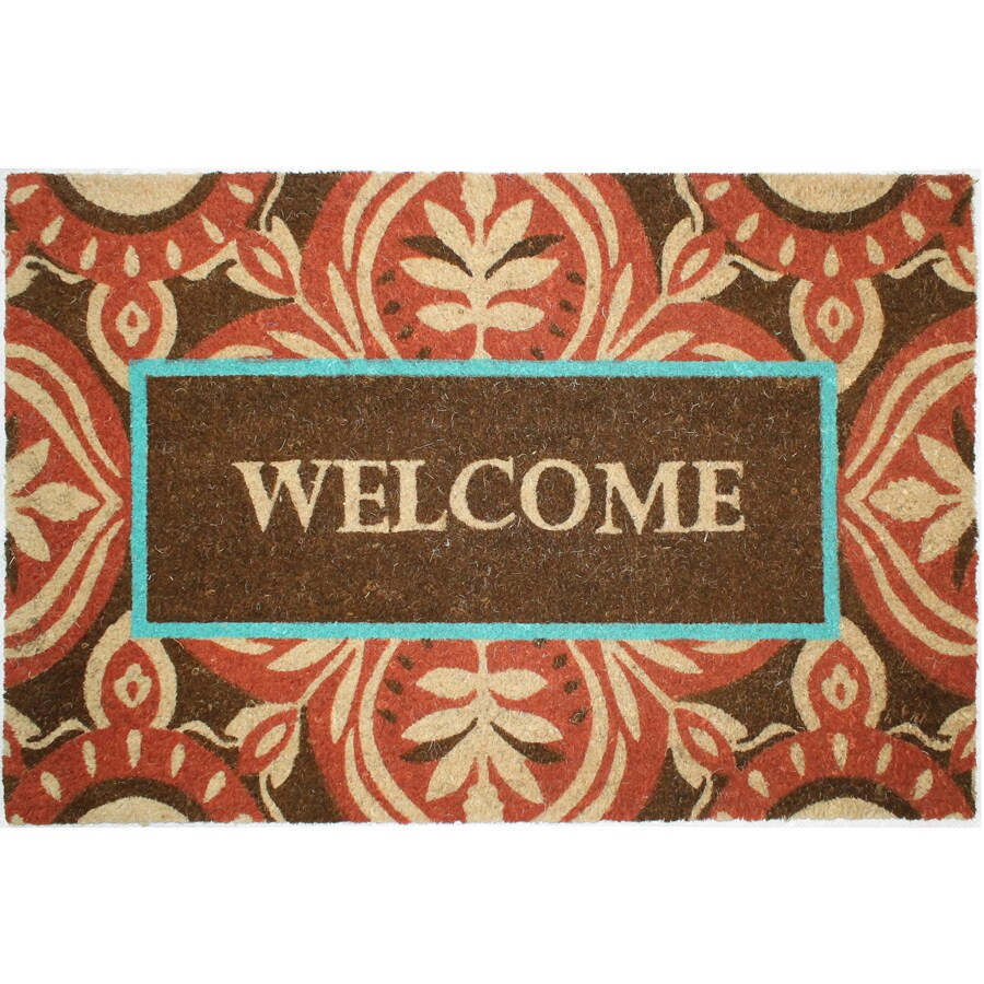Brown Rectangular Door Mat (Common: 24-in x 36-in; Actual: 24-in x 36-in)