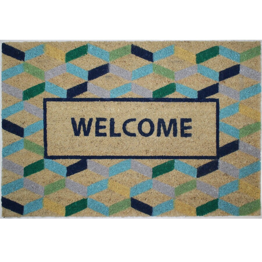 Tan Rectangular Door Mat (Common: 24-in x 36-in; Actual: 24-in x 36-in)