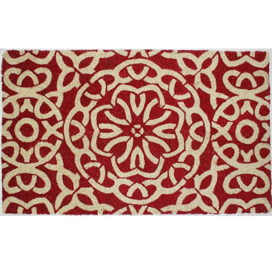 Red Rectangular Door Mat (Common: 1-1/2-ft X 2-1/2-ft; Actual: 18-in x 30-in)