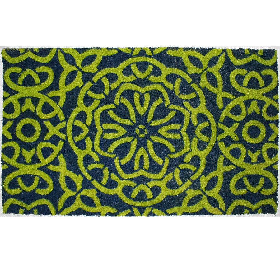 Green Rectangular Door Mat (Common: 1-1/2-ft X 2-1/2-ft; Actual: 18-in x 30-in)