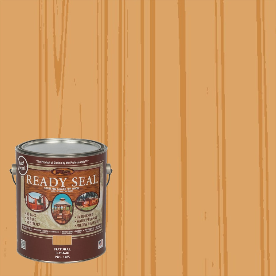 Ready Seal Light Oak Semi-Transparent Exterior Stain (Actual Net Contents: 128-fl oz)