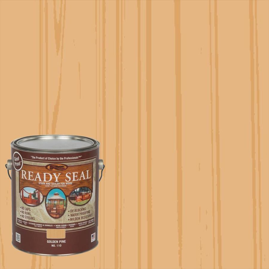 Shop Ready Seal Pre Tinted Golden Pine Semi Transparent Exterior Stain And Sealer Actual Net