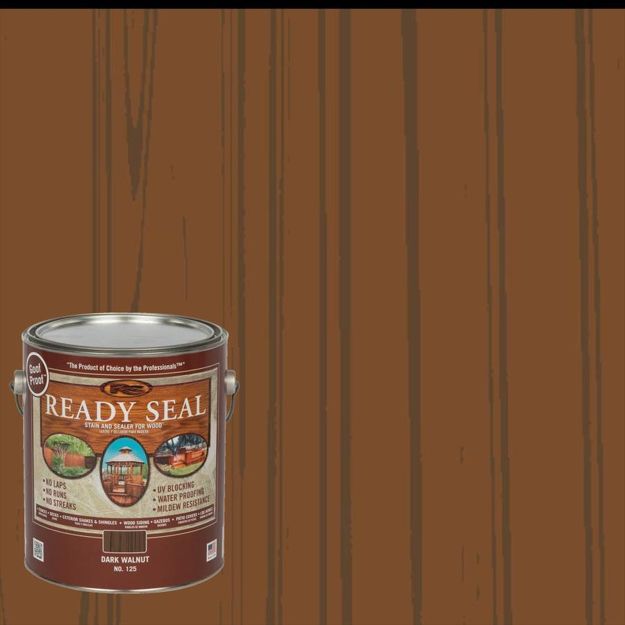Ready Seal Dark Walnut Semi-Transparent Exterior Stain (Actual Net Contents: 128 Fluid Oz.)