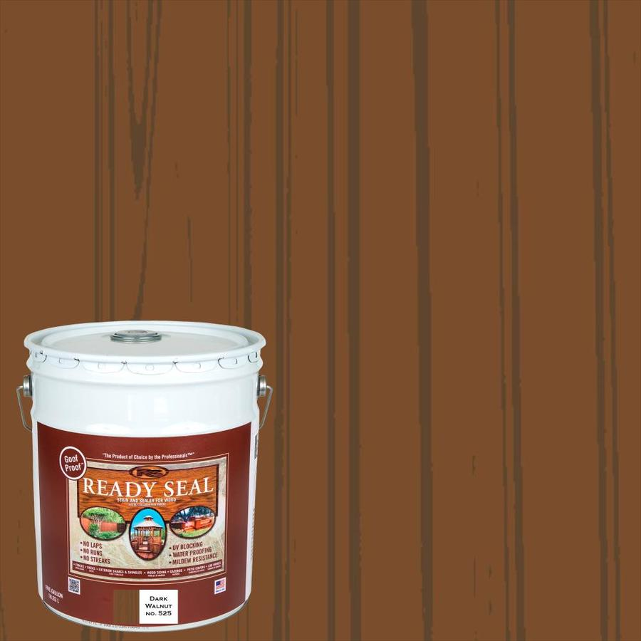 Ready Seal Dark Walnut Semi-Transparent Exterior Stain (Actual Net Contents: 640-fl oz)