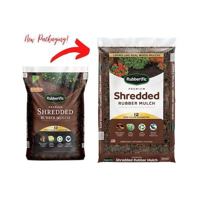 Rubberific 0 8 Cu Ft Dark Brown Rubber Mulch At Lowes Com
