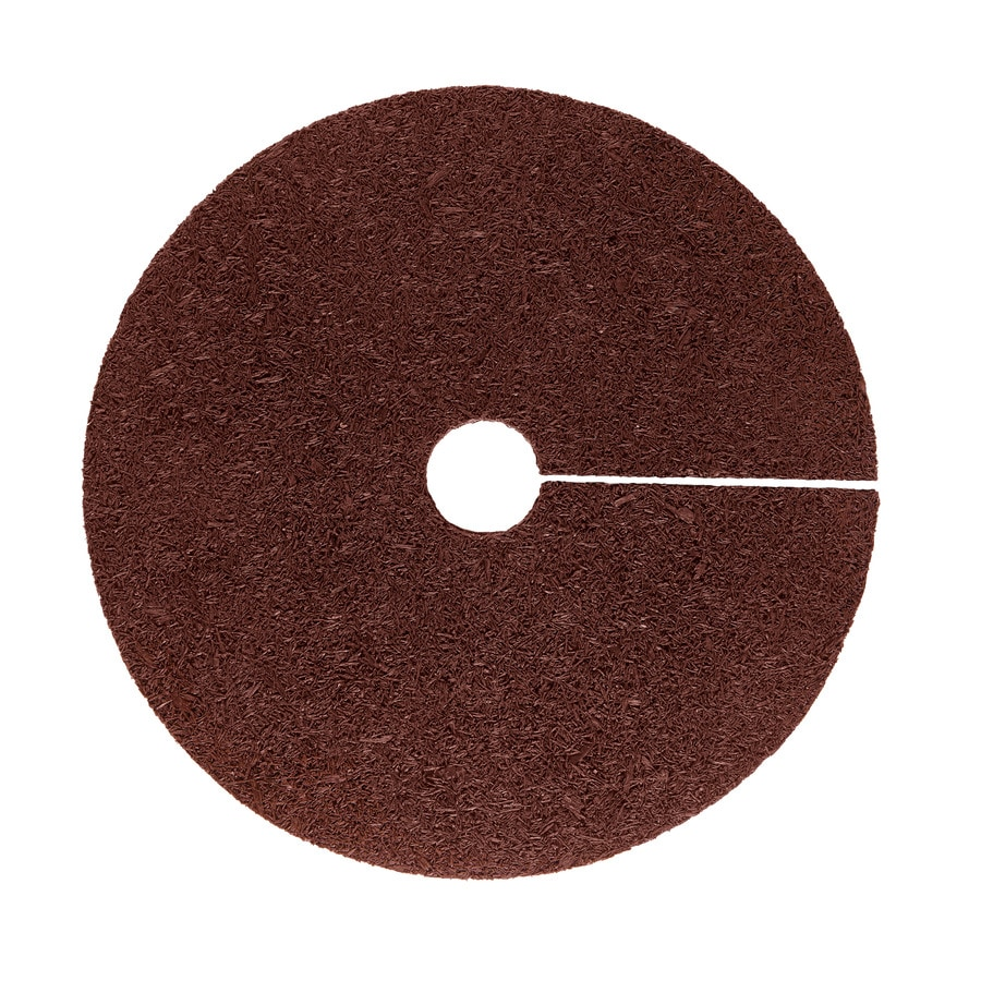 Rubberific Red Recycled Rubber Rubber 24-in Tree Ring