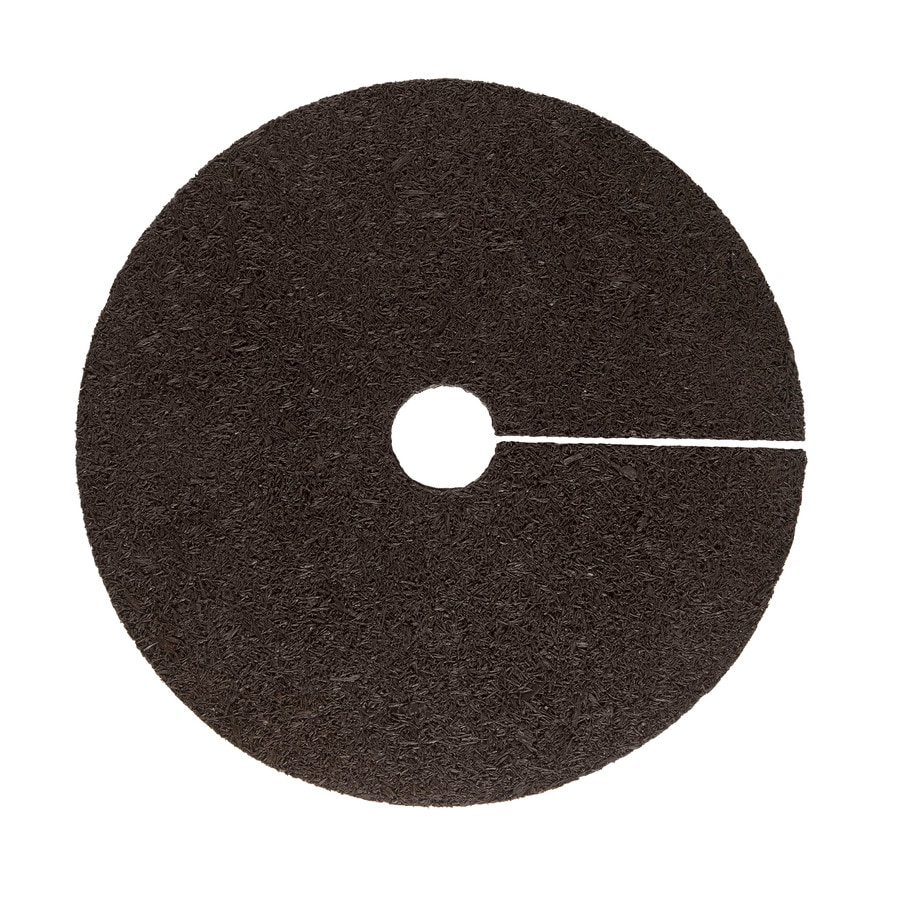 Rubberific Brown Recycled Rubber 36-in Tree Ring