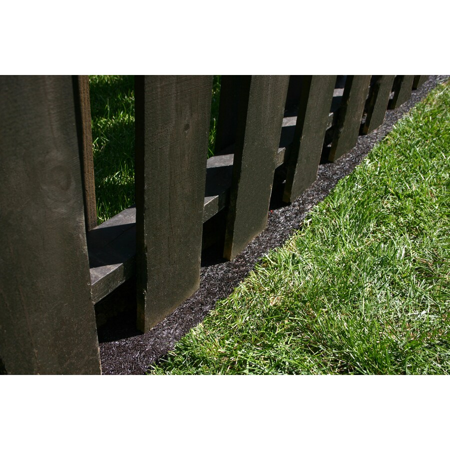 shop rubberific landscape border 8 ft brown rubber