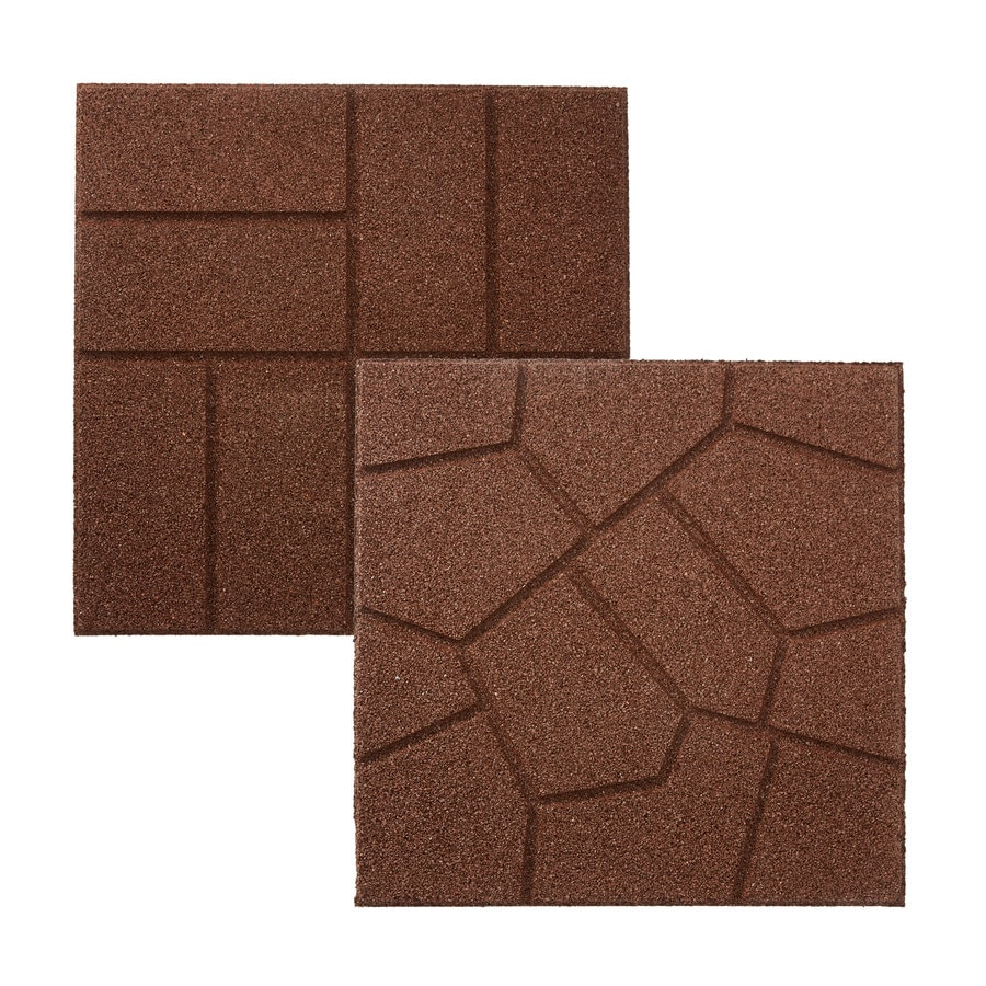 Shop Rubberific Brown Paver Common 16in x 16in Actual 16in