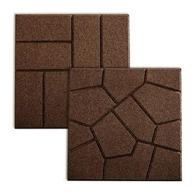 Rubberific Brown Paver (Common: 16 In X 16 In; Actual: