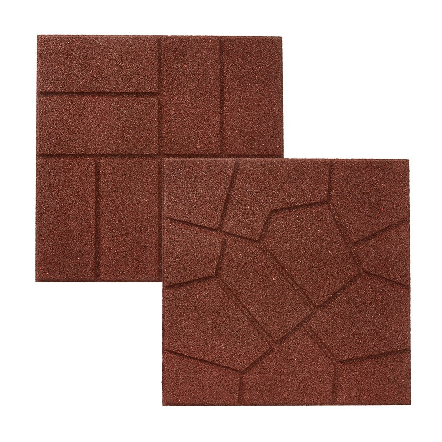 Brick Tile Flooring At Lowe S : Shop rubberific red paver common in actual