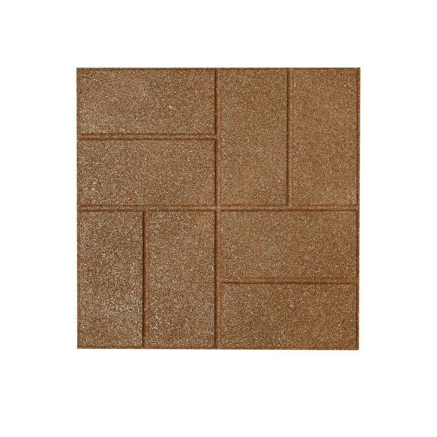 Rubberific Tan Rubber Square Patio Stone (Common: 16-in x 16-in; Actual: 16-in H x 16-in L)