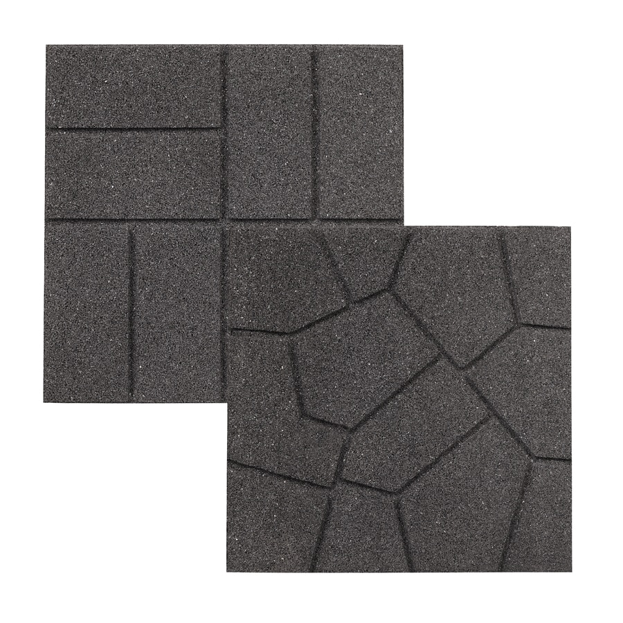 Shop Rubberific Gray Paver Common 16in x 16in Actual 16in x